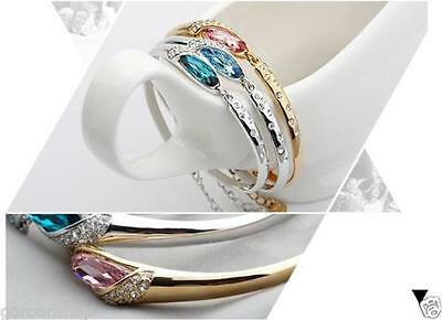 Fasion Women Ladies  Bracelet Alloy Silver Plated Bangle Jewelry Charm Gift