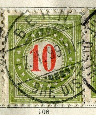 SWITZERLAND;  1883-4 early Postage Due issue fine used 10c. value