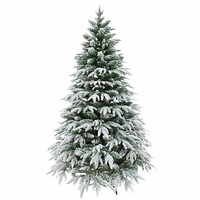 Luxury Snow Tipped Christmas Tree Artificial Pine Indoor Xmas Decoration 6ft 7ft