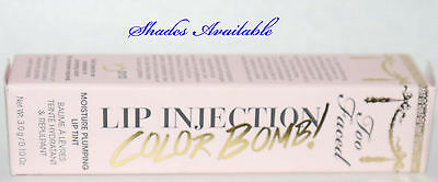 Too Faced Lip Injection Color Bomb! Moisture Plumping Lip Tint 0.10 oz **choices