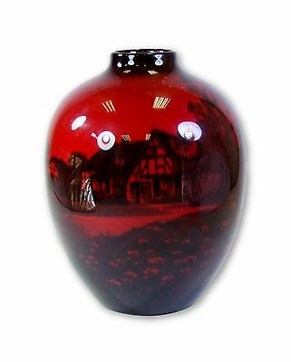 Royal Doulton Flambe Shakespeare's Country Aston Cantlow Vase - Made in England