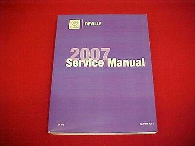 2007 Cadillac Deville Dts Service Shop Repair Manual Volume 2A Only 07