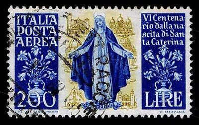 1948 Italy #c128 Airmail - St. Catherine Of Sienna- Used - Vf - Cv$22.50(E#1453)