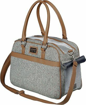 Pet Carrier | Helen Luxury Woven Fabric Cat or Small Dog Carrier - Small