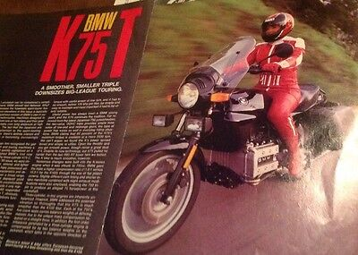 8 Pages Road Test 1986 BMW K75T Street Motorcycle Road Test