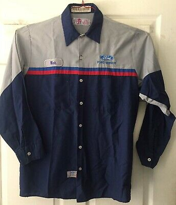 Red Kap Ford Technician Work SHIRT Uniform Mechanic Short Long Sleeve SP14 24 QC