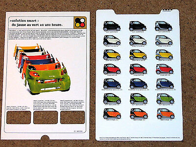 1998 SMART City Coupe COLOURS & TRIMS Brochure - Pure Pulse Passion (FRENCH)