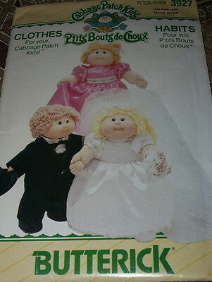 "Butterick #3927 - Darling 16"" Cabbage Patch Kids Bride-Groom-Maid Pattern  Ff"