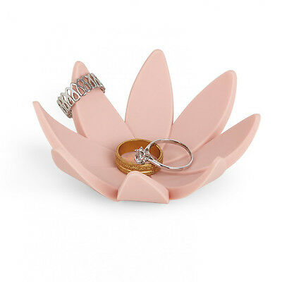 Umbra Lotus Ring Jewelry Holder Dish- Choice of pink, mint green or gray