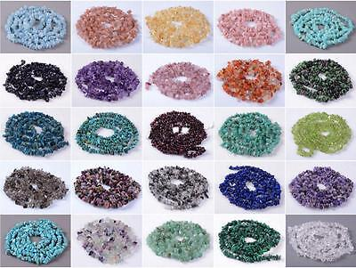 "U Pick 16"" AAA Natural Round Chips Gemstone Beads ~8x5mm Free-Form Loose Beads"