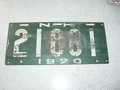 RARE 1920 New Hampshire USA License Plate 21881 Plaque 20 NH N. H.