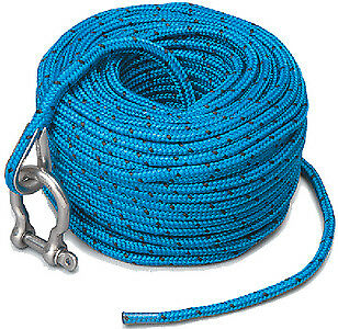 Trac Outdoors T10118 ANCHOR ROPE W/SS SHACKLE
