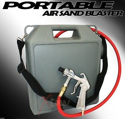 Portable Handheld Air Sandblaster Cleaning Sand Blaster Kit Rust & Paint Remover