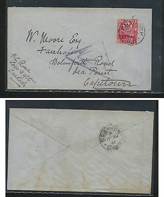 Cape of Good Hope  censor cover local use  1901           AT0608