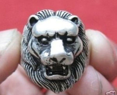 Wonderful Tribal Tibet silver carved lion fashion ring