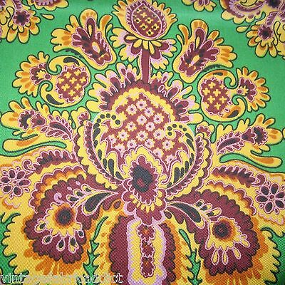 100Cm X 122Cm Hoad Freemont Psychedelic Vintage Curtain Fabric 1960S Wild Lime