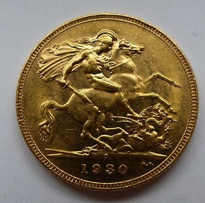 1930 George V Gold Sovereign Perth Mint Better Date