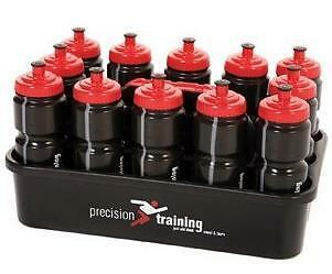Precision 12 Black Water Bottles And Bottle Carrier