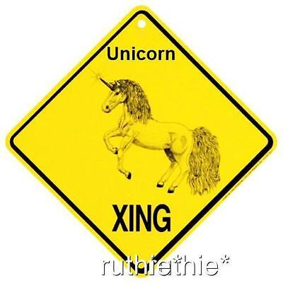 Unicorn Crossing Xing Sign New Made in USA