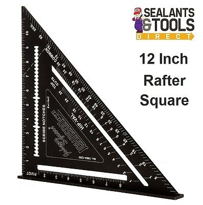 """Johnson Johnny LARGE Roofing Quick Angle Square 12"""" Rafter Carpenter Easy Read"""