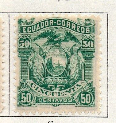 Ecuador 1881 Early Issue Fine Mint Hinged 50c. 090371