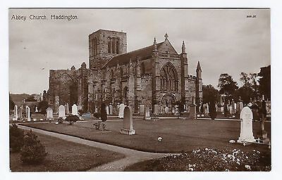 P2780 Original old RP postcard of Abbey Church, Haddington, East Lothian
