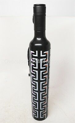 Vinrella Wine Bottle Umbrella 132-B Geometric Black No-Drip Design Rain/Shade