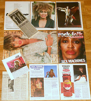 TINA TURNER clippings 1970s/90s photos vintage magazine cuttings articles
