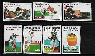 Guinea Bissau 498-504 Summer Olympic Sports Mint NH