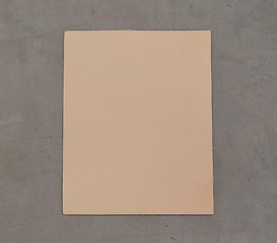 """Pre-cut Natural Leather Cow Hide Veg Tan 8"""" x 10"""" Project Piece 9-10 oz smooth"""