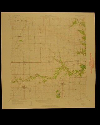 Fithian Illinois vintage 1961 original USGS Topographical chart