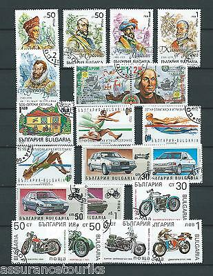 Bulgarie - Lot Timbres 1992 - Obl. / Used