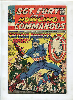Sgt. Fury #13 (7.5) Captain America And Bucky Appearance! Key Issue!
