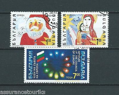 BULGARIE - 1992 YT 3477 à 3479 - TIMBRES OBL. / USED - COTE 6,00 €
