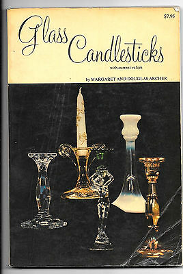 "Book, Glass Candlesticks By Archer, 108 Pages, 9""x6"" Soft Cover 1975"