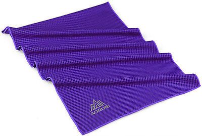 Sports Exercise Cold Quick Dry Beach Sweat Towel Swimming Cooling Towel Purple