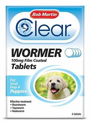Bob Martin - Clear Wormer for Puppies x 4 Tablets