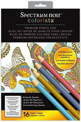 Spectrum Noir - Colorista A4 Foil Butterfly Garden Pencil Colouring Paper Pad