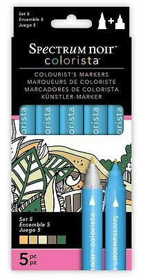 Spectrum Noir - Colorista Arts & Craft Double Ended Marker Pens Set 5 (5 Pack)