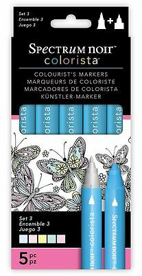 Spectrum Noir New Colorista Arts & Craft Double Ended Marker Pens Set 3 (5 Pack)