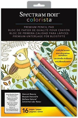 Spectrum Noir - Colorista A4 Foil Natural Beauty Pencil Colouring Paper Pad