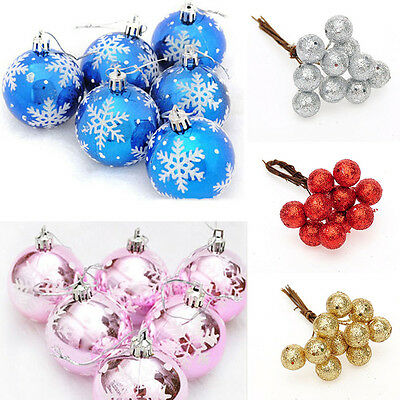 Christmas Balls Baubles Hanging Xmas Tree Party Gift Decoration Decor Ornament