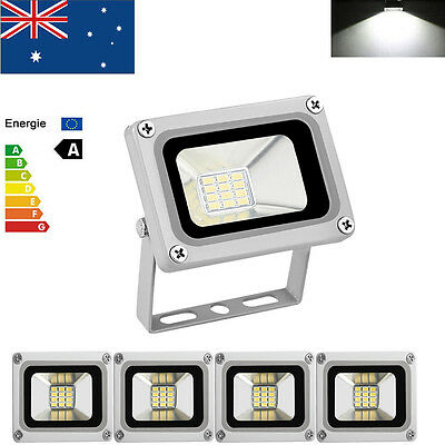 5X 10W LED Floodlights Cool White Spot Flood Light Outdoor Security Lamp DC 12V