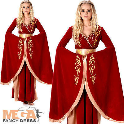 Medieval Queen Cersei Ladies Fancy Dress Game of Thrones Womens Adults Costume