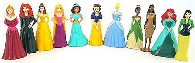 DISNEY PRINCESS Figure Mini Doll Play Set PVC TOY Cake Topper ARIEL Belle MULAN!