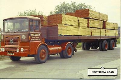 1969 Seddon tractor lorry & trailer  unused Nostalgia Road postcard