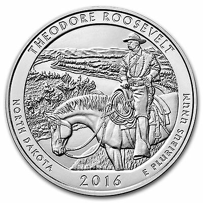 2016 5 oz Silver America The Beautiful (ATB) - Theodore Roosevelt Coin & Capsule