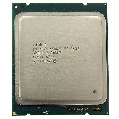 Intel Xeon E5-2650 SR0H4 EIGHT-CORE Processor CPU 2.00Ghz, 20Mb Cache, FCLGA2011