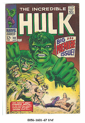 The Incredible Hulk #102 (Apr 1968, Marvel) f/vf