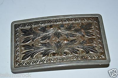 Vintage Western Ornate Art Ranch Belt Buckle Cowboy Cowgirl RARE Country